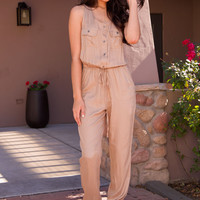 Until Dusk Jumpsuit - Taupe