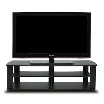 """Furinno 11191BK THE Entertainment Center TV Stand, Black Short 43.3""""(W)x13.4""""(H)x13.1""""(D)"""