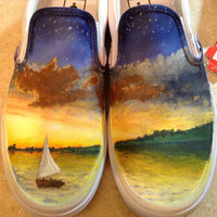 Owl City All Things Bright and Beautiful Custom Hand-painted Shoes