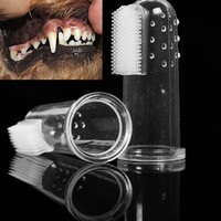 2016 Hot Super Soft Pet Finger Toothbrush Teddy Dog Brush Bad Breath Teeth Care Dog Cat Cleaning Supplies Dog Accessories