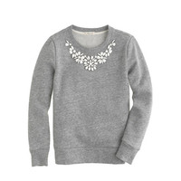 Girls' necklace sweatshirt - knits & tees - Girl's new arrivals - J.Crew