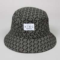 King Apparel - Botanic Bucket Hat - Black