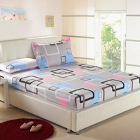 NEW Mixed colors 2/3pcs bedding set bedclothes bed set & FITTED SHEET bed sheet,pillowcases&pure solid
