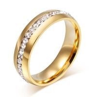 Crystal 18k Gold Plated diamond Rings