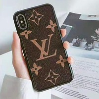 Louis Vuitton LV iPhone Phone Cover Case For iphone 6 6s 6plus 6s-plus 7 7plus iPhone X XR XS XS MAX Coffee