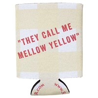They Call Me Mellow Yellow Can Holder in Yellow Gingham by Southern Proper