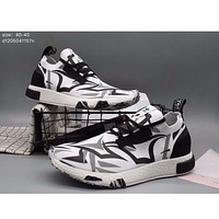 Adidas pedal socks shoes lazy shoes men casual tide shoes cloth shoes F-A36H-MY White + printing