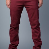 {True Grit} Slim Straight Jeans in Sonoma Red
