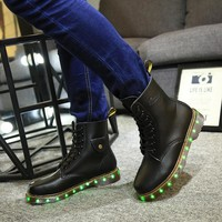 On Sale Hot Sale Hot Deal Autumn Lightning Shoes Round-toe High-top Couple Boots [6734577863]