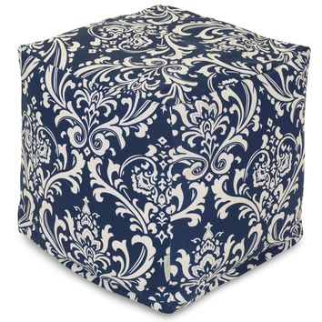 Navy Blue French Quarter Small Cube