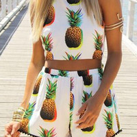 Pineapple Top and Shorts Set