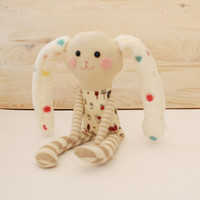 Easter Bunny, Stuffed Rabbit Doll, Soft Animal Toy for Child, Handmade Rabbit Doll, Rag Textile Doll, Gift for Girl, Cloth Toys