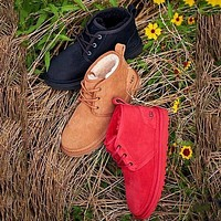 UGG hot-selling snow lace-up Martin boots fashion simple hand-sewn non-slip high-top boots fashion men and women Shoes 1
