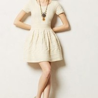 Cabled Sweater Dress by Anthropologie Cream L Sweaters