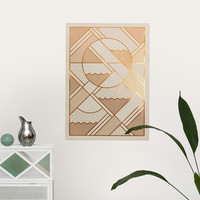 LEVELS PRINT, metallic beige and copper by Kristina Krogh