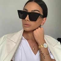 Fashion Square Sunglasses Women Designer Luxury Women Cat Eye Sun Glasses Classic Vintage