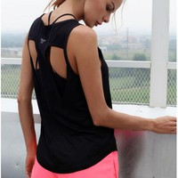 Womens Sexy Yoga Tops Sleeveless Vest Fitness  Shirt Quick dry Clothes Female Breathable Sports Tank Tops Active  Sportwear
