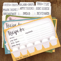 Egg Carton Recipe Cards