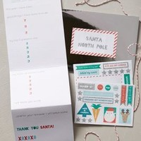 Dear Santa Letter Kit by Anthropologie Red One Size Gifts