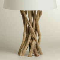 Driftwood Table Lamp Base - World Market