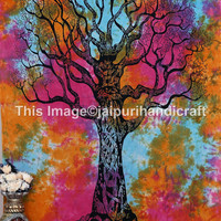 Tie Dye tree Tapestry, tie dye tapestry, twin wall hanging, dorms tapestries, bohemian wall art, hippy hippie tapestries, beach sheet