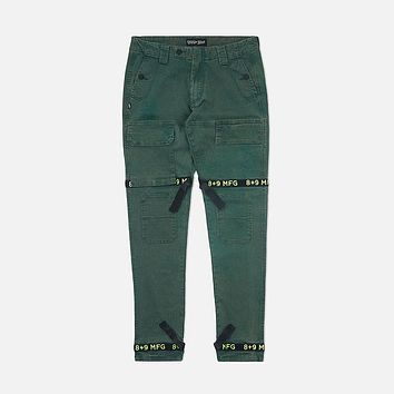 Strapped Up Vintage Washed Utility Pants Green