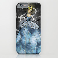 Cinderella Stained Glass iphone case