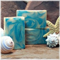 Handmade Cold Process Soap Blue Swirled The Tempest | Soapsmith - Bath & Beauty on ArtFire