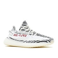 "Adidas Mens Yeezy Boost 350 V2 ""Zebra"" White/Black-Red Fabric"