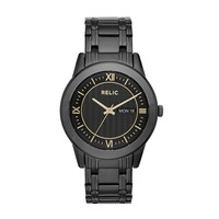 Relic Men's Caldwell Black Ion-Plated Stainless Steel Watch
