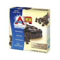 Atkins Advantage Bar - Triple Chocolate - Box Of 5 - 1.4 Oz