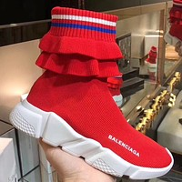 BALENCIAGA Speed stretch-knit high-top sneakers 5 colors