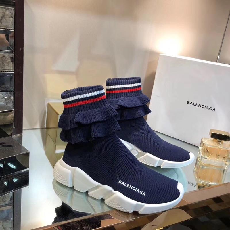 Image of BALENCIAGA Speed stretch-knit high-top sneakers
