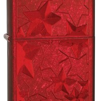 Zippo Candy Ice Stars Lighter, Apple Red