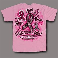Sweet Thing Funny Cure Pink Ribbon Cancer Girlie Bright T-Shirt