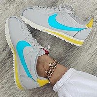 Nike Cortez Forrest Couple Retro Casual Sneakers Grey blue