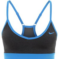 Nike Performance PRO INDY - Sports bra - black heather/black photo - Zalando.co.uk
