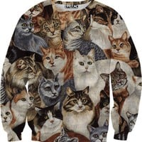 Cats on Cats on Cats Sweater
