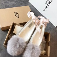 UGG Pom Pom Slipper With Crystals