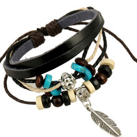 Boho Faux Leather Bracelet