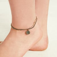 Disc and Chain Anklet - Urban Outfitters