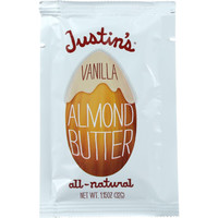 Justins Nut Butter Almond Butter - Natural Vanilla - Squeeze Pack - 1.15 Oz - Case Of 60