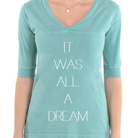 It Was All A Dream -Football V-Neck Tee