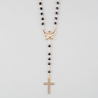 Black Scale Cross Rosary Necklace Gold One Size For Men 25555662101