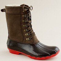Women's shoes - weather boots - Sperry Top-Sider?- tall Shearwater boots - J.Crew