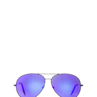 Classic Aviator Sunglasses in Midnight Eclipse