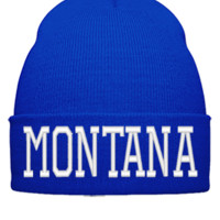 MONTANA EMBROIDERY HAT  - Beanie Cuffed Knit Cap