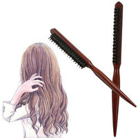 Handle Natural Boar Bristle Hair Brush Fluffy Comb Hairdressing Barber Tool HUUS