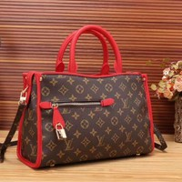 LV Women Shopping Leather Tote Handbag Shoulder Bag-23