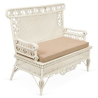 One Kings Lane - A Romantic & Whimsical Mix - Wicker Bench